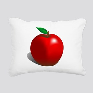 Red Apple Fruit Rectangular Canvas Pillow