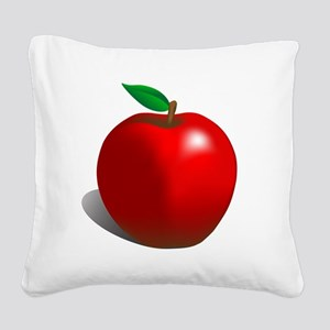 Red Apple Fruit Square Canvas Pillow