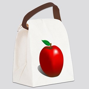 Red Apple Fruit Canvas Lunch Bag