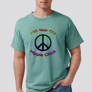 100 hippie - chick Mens Comfort Colors Shirt