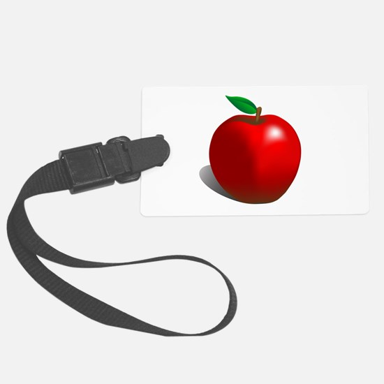 Red Apple Fruit Luggage Tag