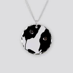 Border Collie Watching Ewe Necklace Circle Charm
