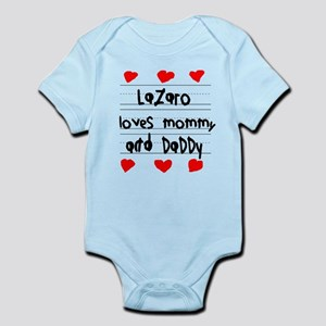 Lazaro Loves Mommy and Daddy Infant Bodysuit