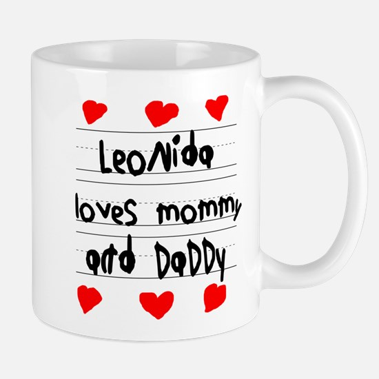 Leonida Loves Mommy and Daddy Mug