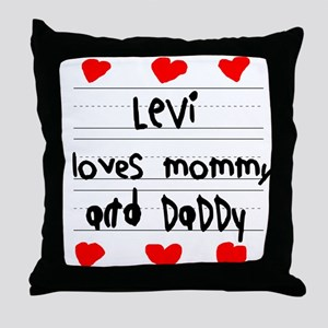 Levi Loves Mommy and Daddy Throw Pillow