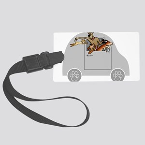 Riding in Cars with Dogs Large Luggage Tag