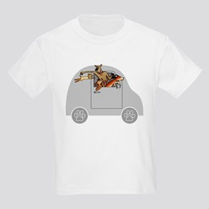 Riding in Cars with Dogs Kids Light T-Shirt