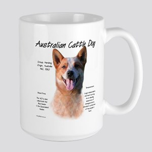 Cattle Dog (red) 15 oz Ceramic Large Mug