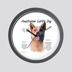 Cattle Dog (red) Wall Clock