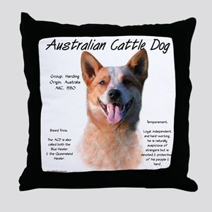 Cattle Dog (red) Throw Pillow