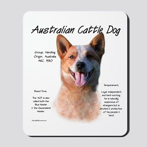 Cattle Dog (red) Mousepad