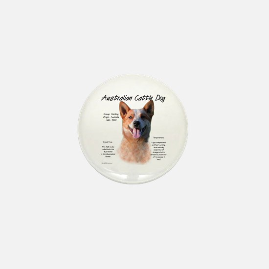 Cattle Dog (red) Mini Button
