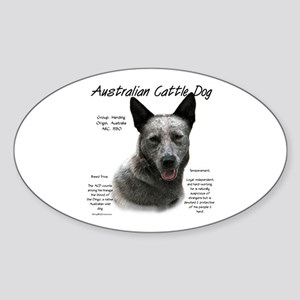 Cattle Dog (blue) Sticker (Oval)