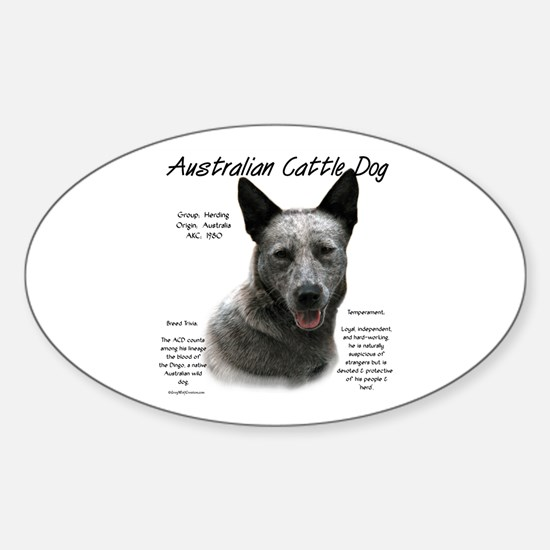 Cattle Dog (blue) Sticker (Oval)