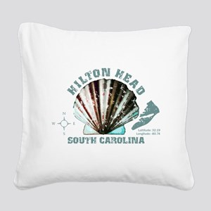 Hilton Head South Carolina Square Canvas Pillow