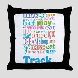 Track Throw Pillow