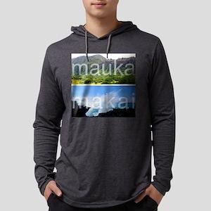 Mauka Makai Hawaii Print Mens Hooded Shirt