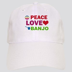 Peace Love Banjo Cap
