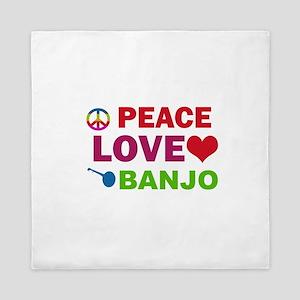 Peace Love Banjo Queen Duvet