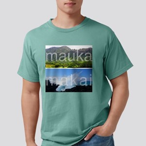 Mauka Makai Hawaii Print Mens Comfort Colors Shirt