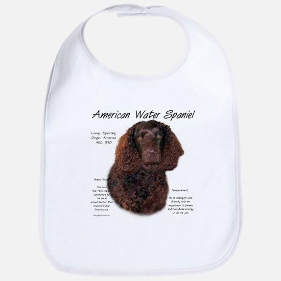 American Water Spaniel Cotton Baby Bib