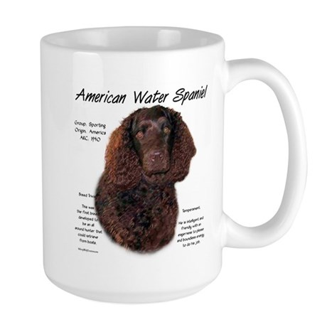 American Water Spaniel 15 oz Ceramic Large Mug