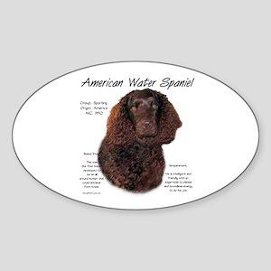 American Water Spaniel Sticker (Oval)