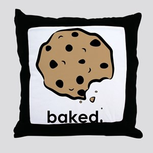Baked. Throw Pillow