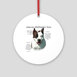 AmStaff Terrier Round Ornament