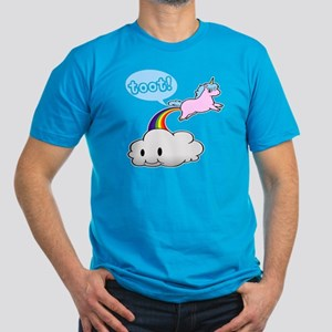 Cute Unicorn Fart! ... TOOT! Men's Fitted T-Shirt