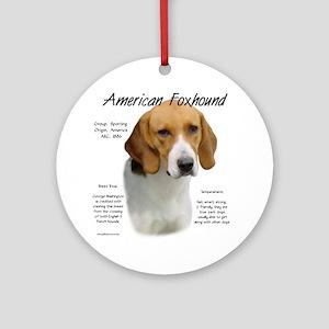 American Foxhound Round Ornament