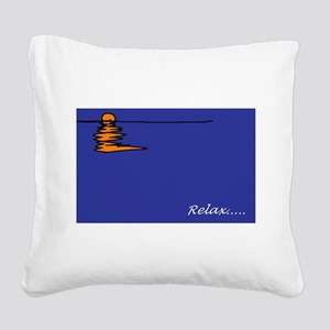 Sunset Square Canvas Pillow