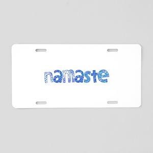 Blue Tribal Namaste Aluminum License Plate