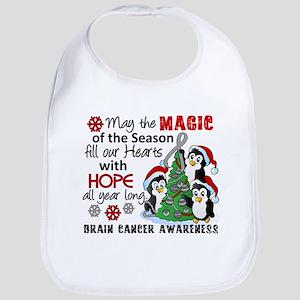 Holiday Penguins Brain Cancer Bib