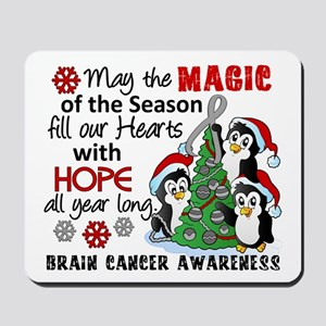 Holiday Penguins Brain Cancer Mousepad
