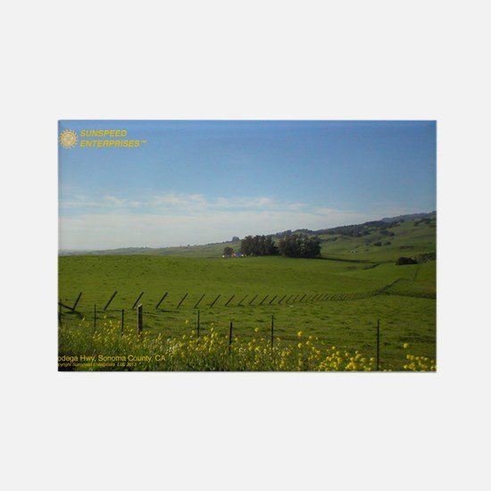 California Fields Sunspeed Rectangle Magnet