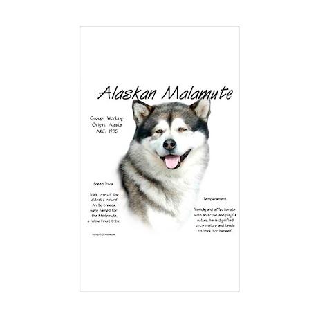 Alaskan Malamute Sticker (Rectangle)