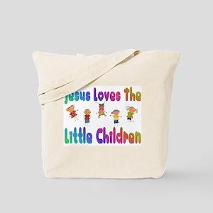 Kids Jesus Loves Tote Bag