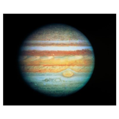 Image of Jupiter taken with the Hubble Telescope Poster