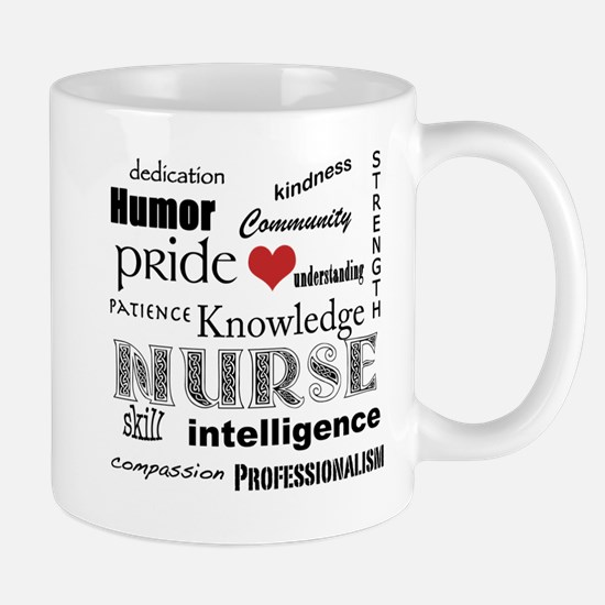 Nurse Pride with Red Heart Mug