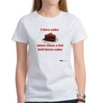 I love cake like a fat kid Women's T-Shirt