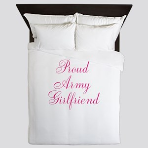 Pink Army Girlfriend Queen Duvet