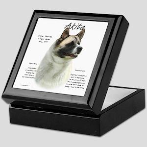 Akita (pinto) Keepsake Box