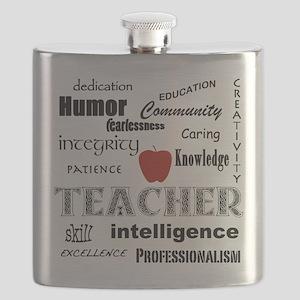 Teacher Pride Flask