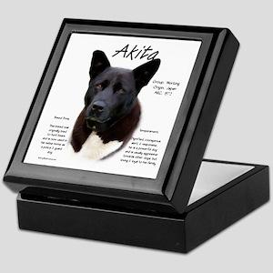 Akita (black) Keepsake Box