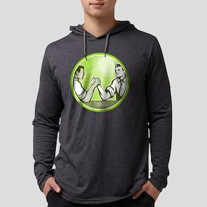 Businessman Office Worker Arm Wr Mens Hooded Shirt