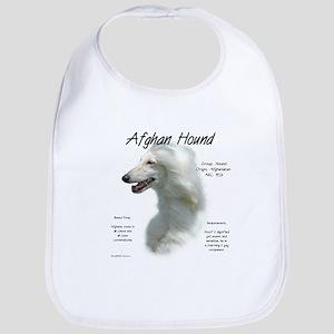 Afghan Hound (white) Cotton Baby Bib