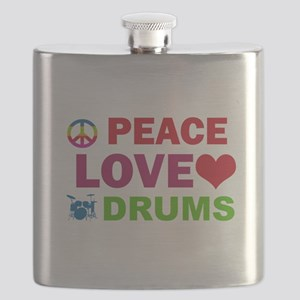 Peace Love Drums Flask