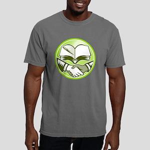 Handshake Book Pen Woodc Mens Comfort Colors Shirt