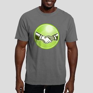 Handshake Black White Wo Mens Comfort Colors Shirt